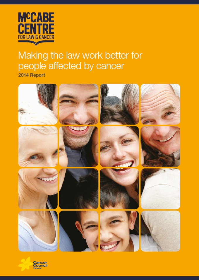 Making the law work better for people affected by cancer second report