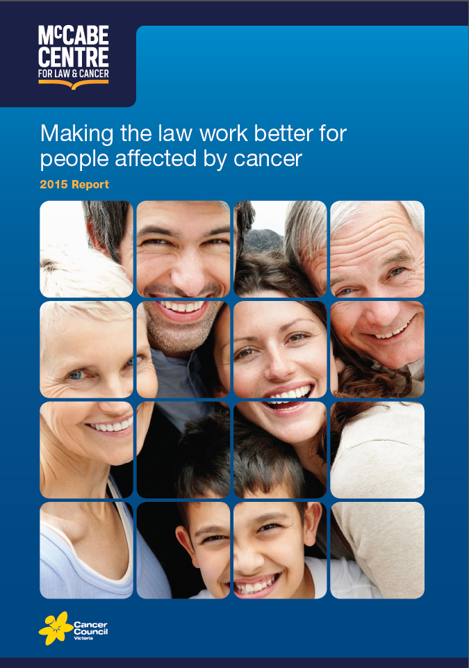 Making the law work better for people affected by cancer thrid report