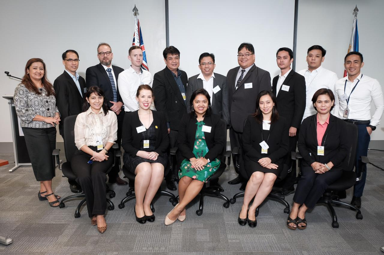 McCabe Centre alumni and staff at the Australian Embassy in Manila, Phillipines