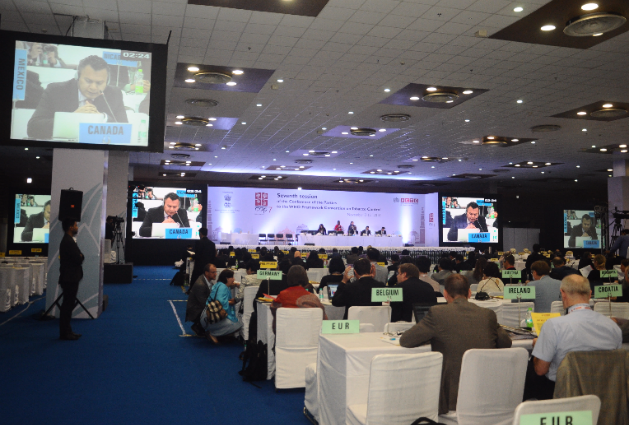 The seventh session of the WHO FCTC Conference of the Parties in New Delhi, November 2016. Image credit: World Health Organization Framework Convention on Tobacco Control Secretariat